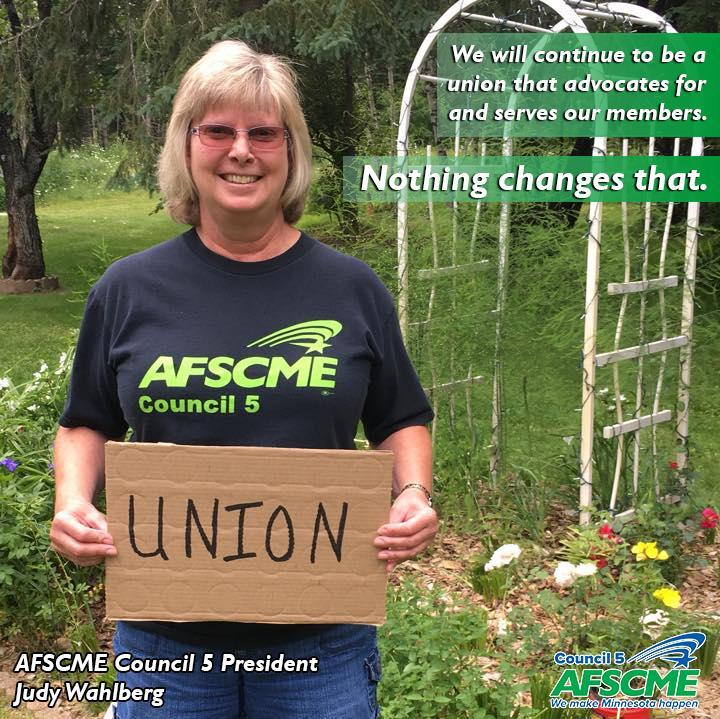 AFSCME Council 5 president Judy Wahlberg